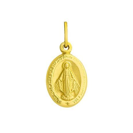 Pingente de Ouro 18k Medalha de Nossa Senhora das Graças Pequeno pi163 -  Joiasgold 2ac139e480