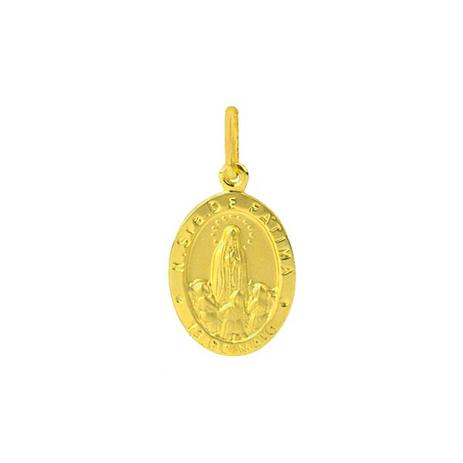 Pingente de Ouro 18k Medalha de Nossa Senhora de Fátima pi11735 - Joiasgold 5694713a57