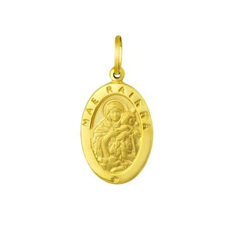 Pingente de Ouro 18k Medalha Mãe Rainha pi01504 - Joiasgold ... 6d05ab0688