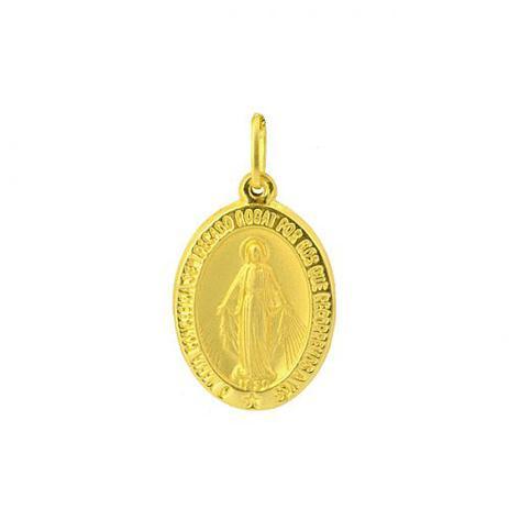 c189af0c291a7 Pingente de Ouro 18k Medalha Nossa Senhora das Graças pi01471 - Joiasgold