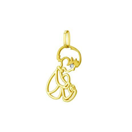 d6b3fb9764766 Pingente de Ouro 18k Menino Sentado com Diamante pi17844 - Joiasgold ...