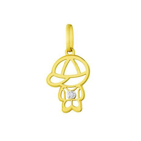 ef955c0c27181 Pingente de Ouro 18k Menino Vazado com Diamante pi17160 - Joiasgold ...