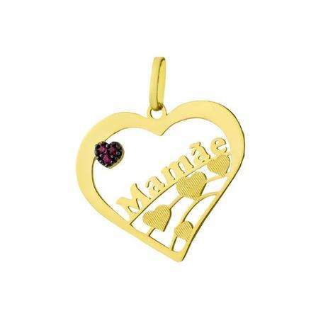 63510f66926 Pingente de Ouro 18k Nome Mamãe com Rubi Vazado pi16971 - Joiasgold ...