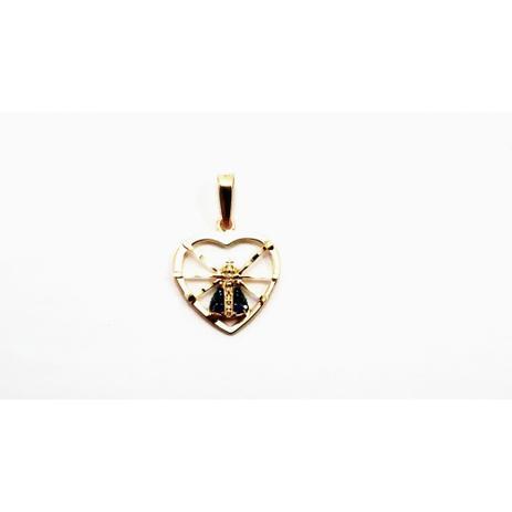 Pingente de ouro 18k Nossa Senhora Aparecida coração vazado - Midasstore 125b23b8a5
