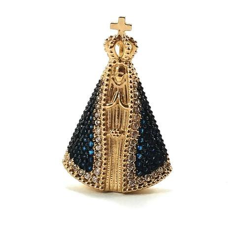 Pingente de ouro 18k Nossa Senhora Aparecida - Midasstore - Pingente ... 774afa42e2
