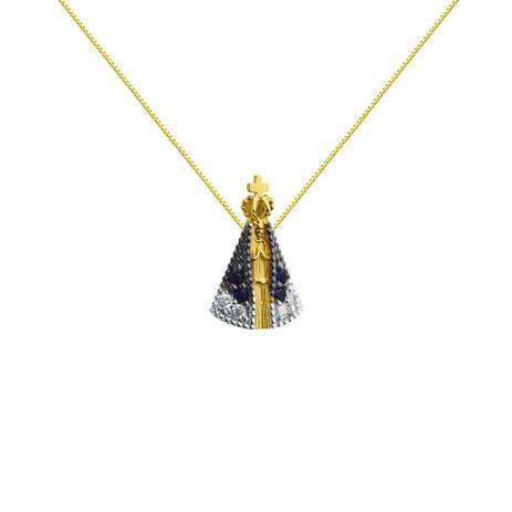 8f9b9d4b8a1e7 Pingente de Ouro 18K Nossa Senhora Aparecida PI17720 - Joiasgold ...