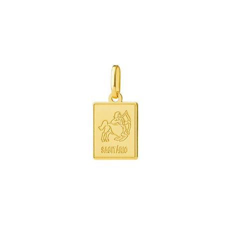 Pingente de Ouro 18k Placa Signo Sagitário pi18446 - Joiasgold ... e458d5f626