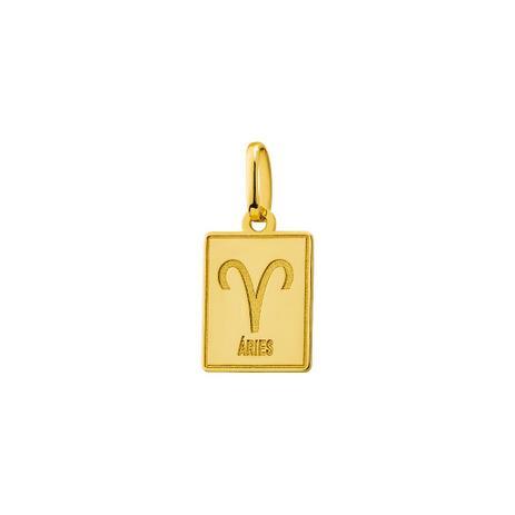 029924ca775fa Pingente de Ouro 18k Placa Símbolo Signo Áries pi18515 - Joiasgold ...