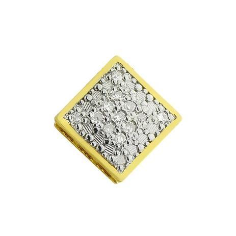 Pingente de Ouro 18k Quadrado Ponto de Luz com Diamantes pi14567 - Joiasgold 52aae0ab27