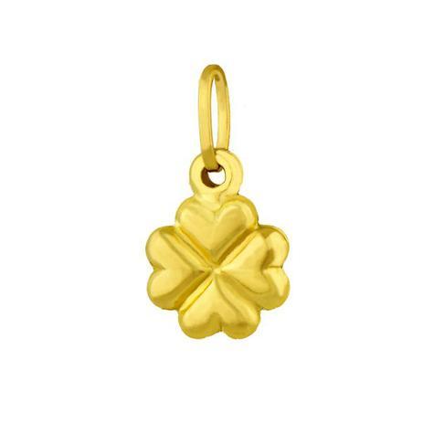 7bee443bf3fe8 Pingente de Ouro 18k Trevo com 4 Corações pi06957 - Joiasgold ...