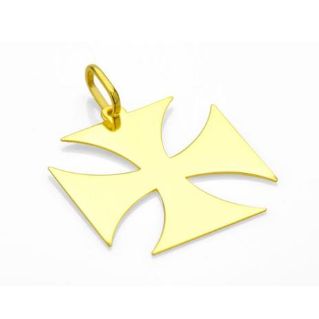 2f2d6f18a7 Pingente do Vasco em Ouro 18k Cruz de Malta G pi17332 - Joiasgold ...