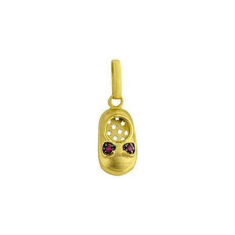 f5e7530d63259 Pingente em Ouro 18k Formato de Tênis com Rubi pi16224 - Joiasgold ...