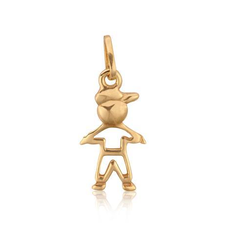 Pingente em Ouro 18k Menino Vazado Premium - Rosana joias - Pingente ... 6f47ce8045