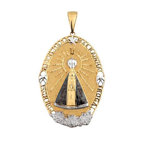 db0a7abf15d69 Pingente Nossa Senhora Aparecida em Ouro 18k Oval - Joia em casa ...