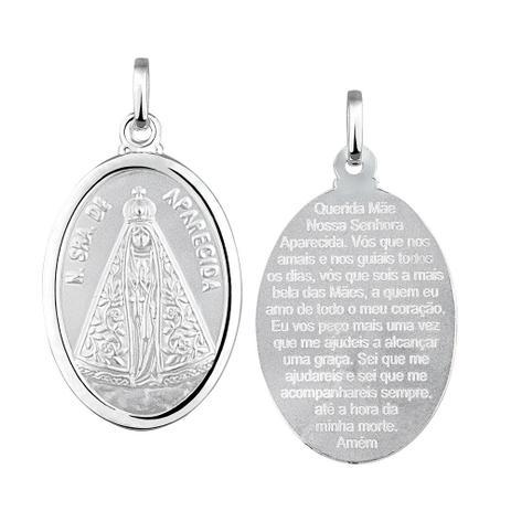 Pingente Nossa Senhora Aparecida em Prata 925 Grande - Joia em casa ... 3ada626741