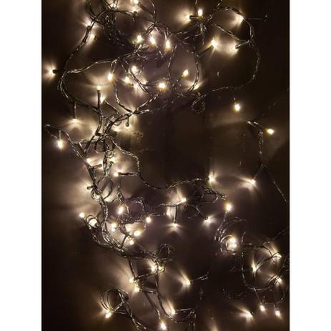 Imagem de Pisca Pisca 100 LEDS 9m 8 funções Branco Quente - Wincy