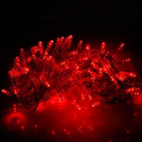 Imagem de Pisca Pisca Natal Led 100 Lâmpadas 110/220v 8 funções azul 220V