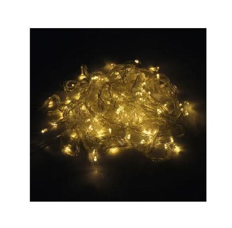 Imagem de Pisca Pisca Natal Led 100 Lâmpadas Branco Quente 8 funções 110v