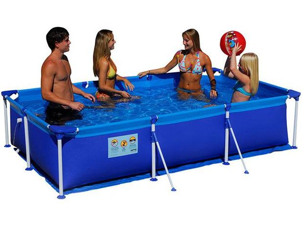 Piscina 2500 litros retangular mor premium piscina for Litros de una piscina