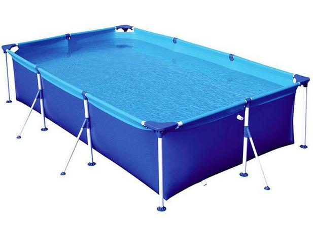 Piscina 3700 litros retangular mor premium piscina for Piscina de 6000 litros
