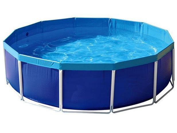 Piscina 5500 litros redonda mor circular piscina for Piscina 7 mil litros