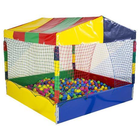 Piscina de Bolinha Canguri de 2m x 2m com 2.000 Bolas Coloridas ... e0ff924171856