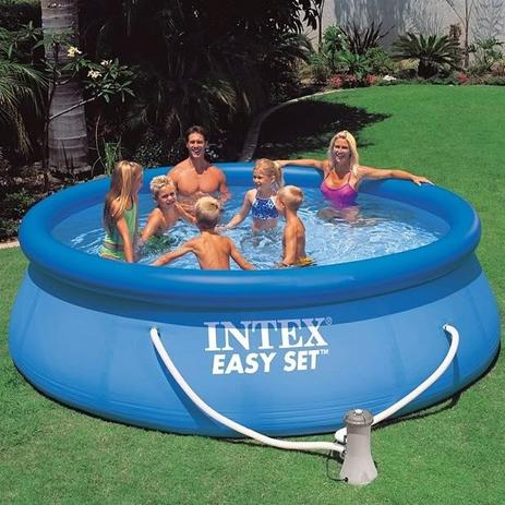 Piscina intex 6734 litros com bomba filtro 110v 28145 for Filtro para piscina intex