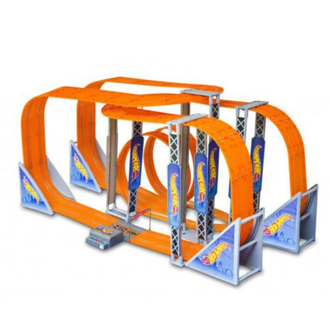 Pista Hot Wheels Track Set Zero Gravity Slot Car 1300cm 2 carrinhos+2 controles Indicado para +5 anos Multikids - BR070