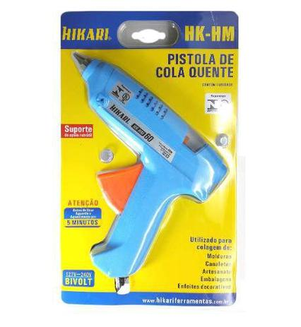 Imagem de Pistola de Cola Quente 60W Bivolt Profissional Hikari HK-HM