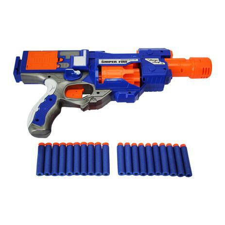 bc388860d Pistola n semi auto 20 dardos estilo nerf mc18232 unica - Mega compras