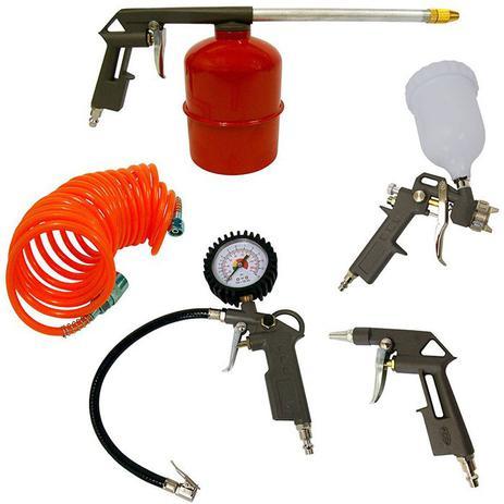 Imagem de Pistola Pintura Kit Com 5 Peças Para Compressor Intech Machine