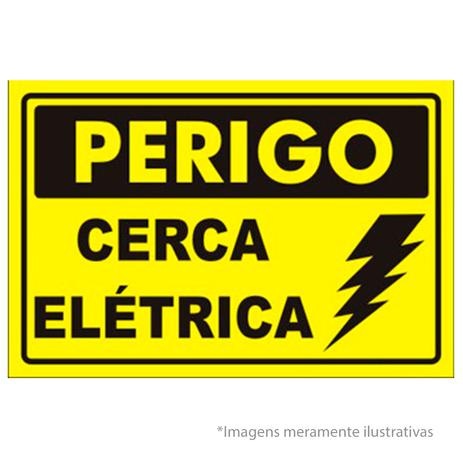 placa de advertência para cerca elétrica cuidado cerca elétrica