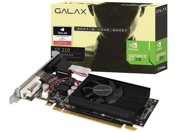 Imagem de Placa de Vídeo Galax NVIDIA GeForce GT210
