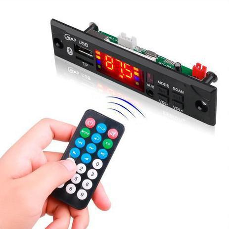 Imagem de Placa Decodificador Usb P/ Caixa Ativa Mp3 Fm Aux Bluetooth