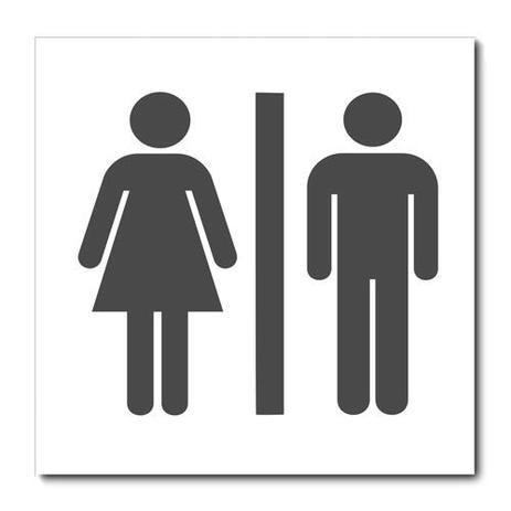 Imagem de Placa Decorativa - Banheiro Feminino e Masculino - 2014plmk