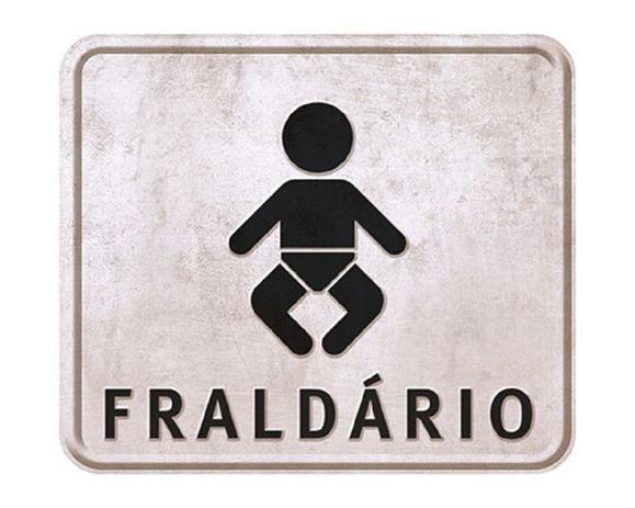 Imagem de Placa em MDF e Papel Decor Home Fraldário DHPM-033 - Litoarte