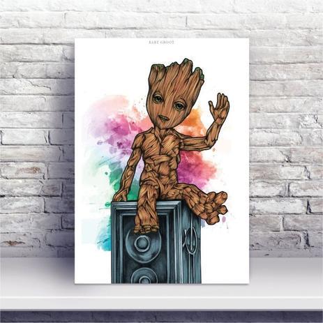 Placa Mdf Desenho Baby Groot Guardiao Da Galaxia Conspecto