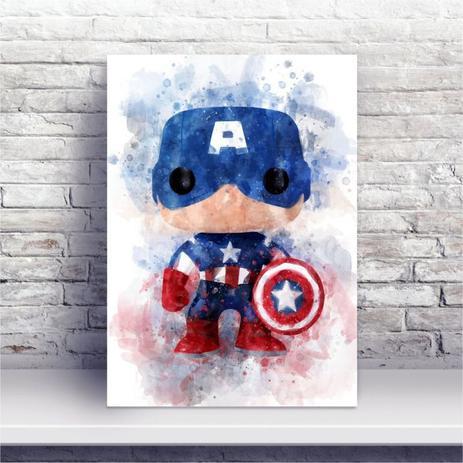 Placa Mdf Desenho Em Aquarela Capitao America Escudo Conspecto