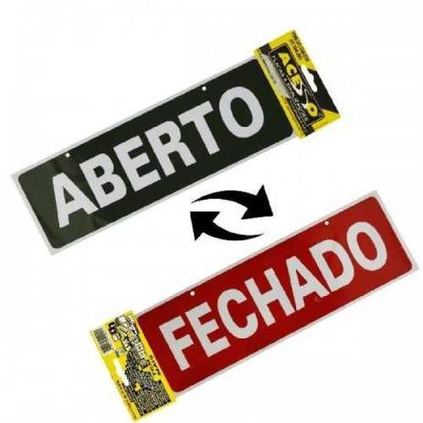 Placa Sinal. Aberto E Fechado - J a placas - Placas decorativas ... 4043bfa2c4c