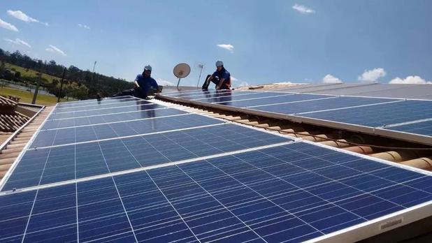 Imagem de Placa Solar Painel Modulo Fotovoltaico 340w Inmetro