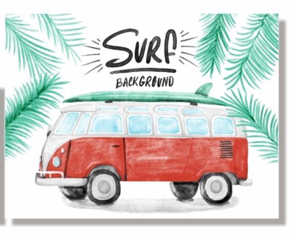 d686b69b171 Placa Surf Kombi - Tecnolaser - Placas decorativas - Magazine Luiza
