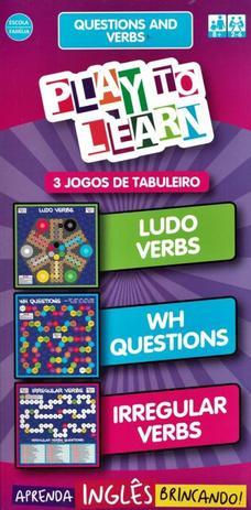 Imagem de Play to learn - 3 jogos de tabuleiro - questions and verbs