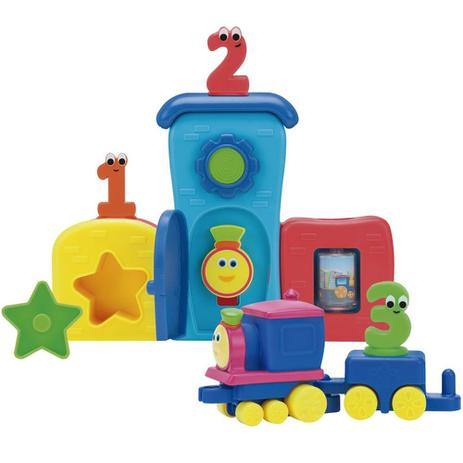 Playset E Mini Veiculo Bob O Trem Pela Cidade Fun Playsets