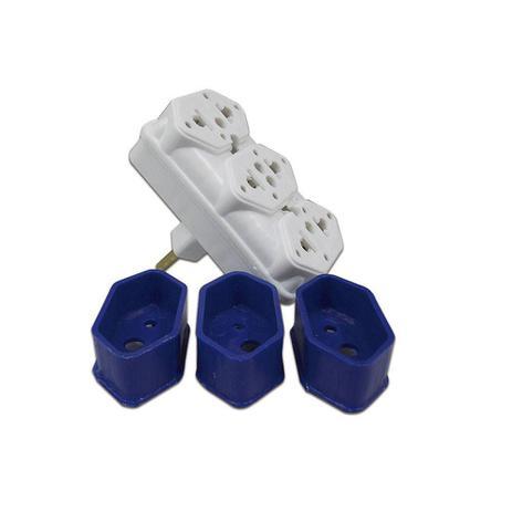 Imagem de Plug Adaptador de Tomada com 3 Saídas 10A c/ Casulo