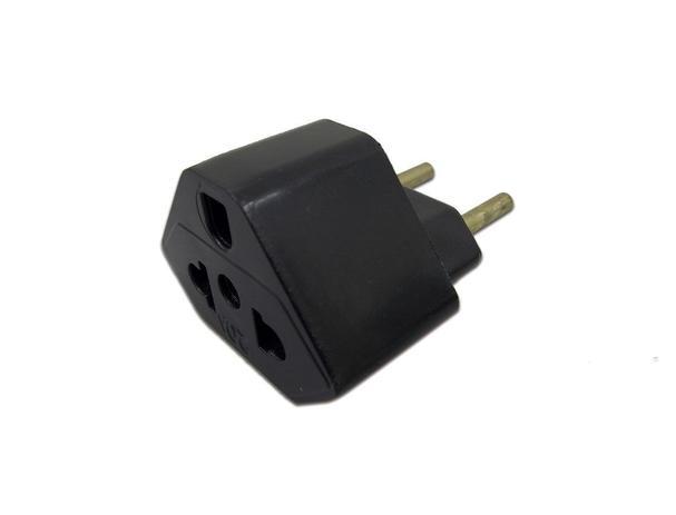 Imagem de Plug Adaptador de Tomada Preto 20A Universal