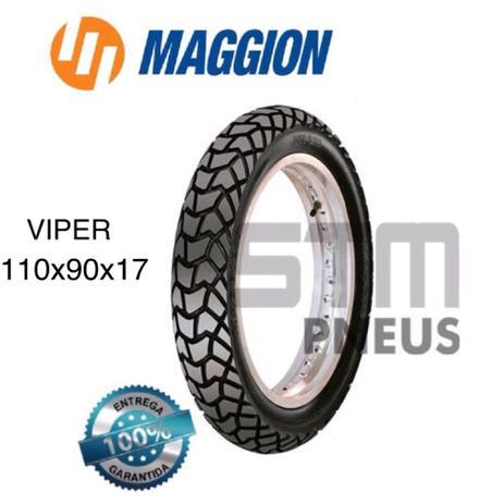Imagem de Pneu bros 150 Maggion Viper 110/90/17 traseiro Crosser moto aro 17 Pronta entrega aproveite !!