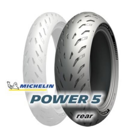 Imagem de Pneu de moto michelin  power 5 r 180/55 zr17 tl m/c 73w
