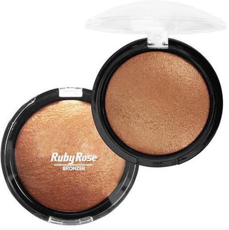 Pó Iluminador Facial Corporal Bronzer Ruby Rose COR 05 ...