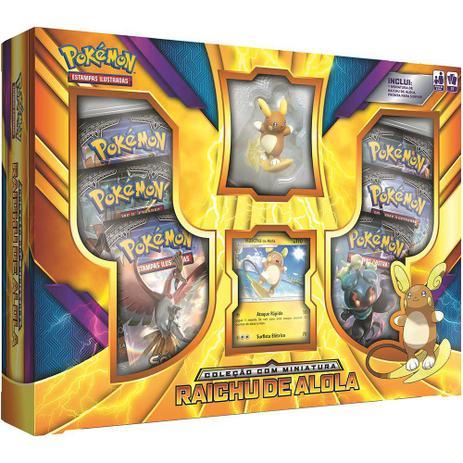8e71b9ce5b Pokemón Box Miniatura Raichu de Alola - Copag - Jogos de Cartas ...