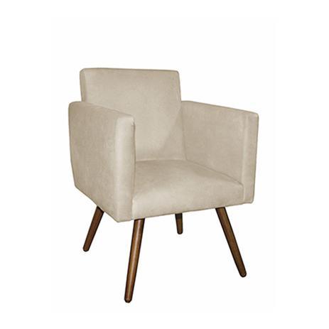 Imagem de Poltrona Cadeira Nina Decoração Suede Bege